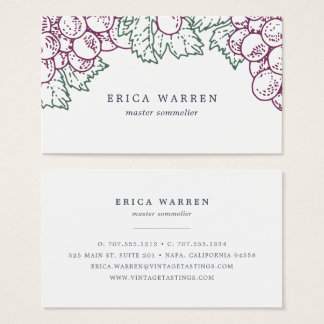 Grape Arbor | Sommelier or Wine Industry Business Card