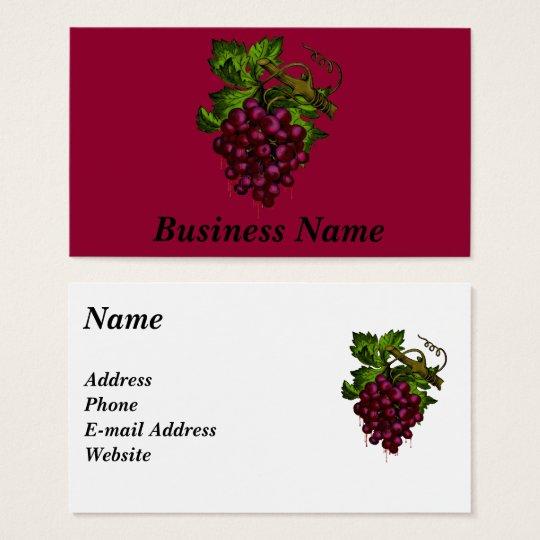 Grape Bunch Dripping Blood Business Card