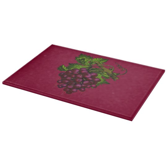 Grape Bunch Dripping Blood Cutting Board