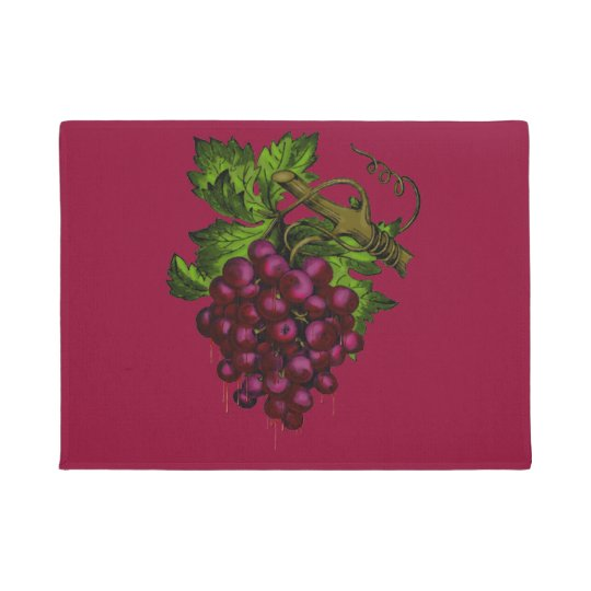Grape Bunch Dripping Blood Doormat