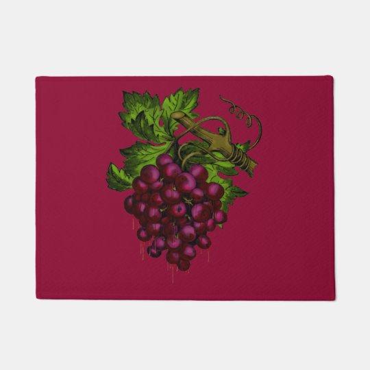 Grape Bunch Dripping Blood Doormat