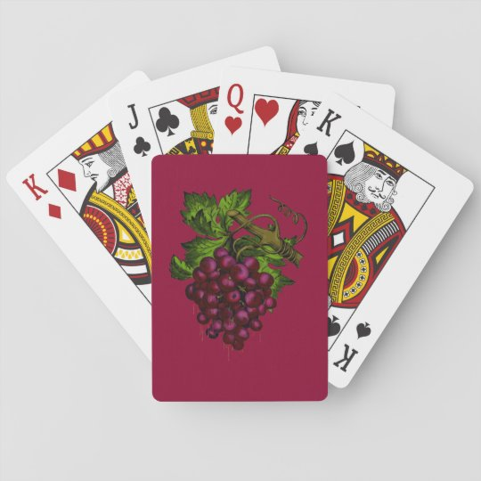 Grape Bunch Dripping Blood Playing Cards