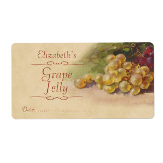 Grape Canning label Shipping Label