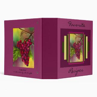 Grape Cluster Recipe Book 3 Ring Binder