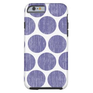 Grape Distressed Polka Dot iPhone 6 Tough iPhone 6 Case