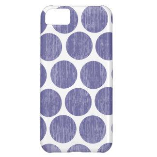 Grape Distressed Polka Dot iPhone iPhone 5C Covers