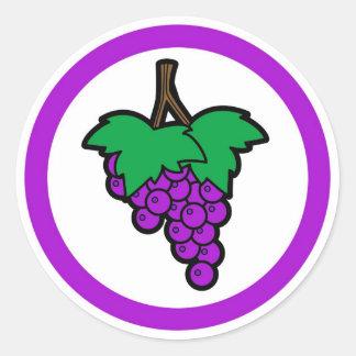 Grape flavor circle sticker labels