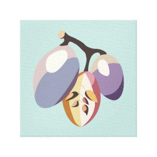 Grape fruit illustration canvas print