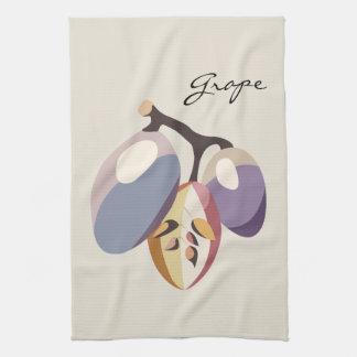 Grape fruit illustration hand towel