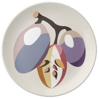 Grape fruit illustration plate