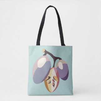 Grape fruit illustration tote bag