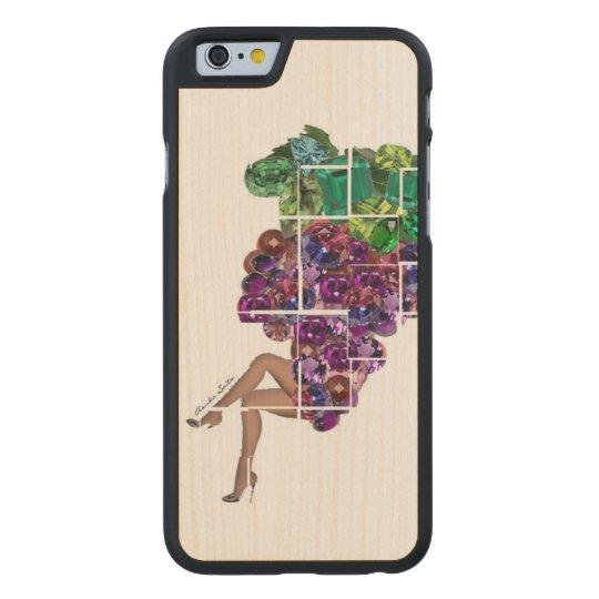 Grape Gems Carved® Maple iPhone 6 Case