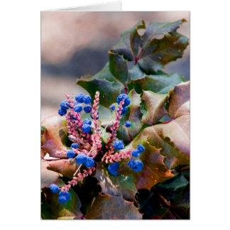 Grape Holly Card