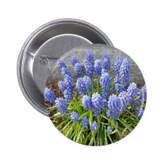 Grape Hyacinth 2 Inch Round Button