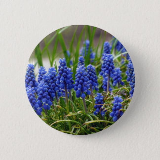 Grape Hyacinth 2 Inch Round Button