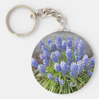 Grape Hyacinth Basic Round Button Keychain