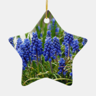 Grape Hyacinth Ceramic Ornament