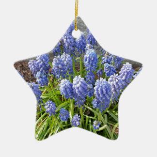 Grape Hyacinth Ceramic Star Ornament