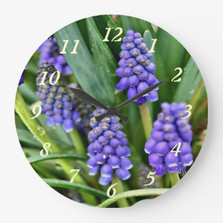 Grape Hyacinth Clock 388- customize