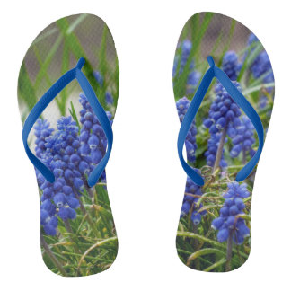 Grape Hyacinth Flip Flops