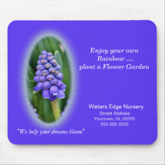 Grape Hyacinth Mousepad- advertise or personalize