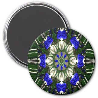 Grape Hyacinth of Love... 3 Inch Round Magnet