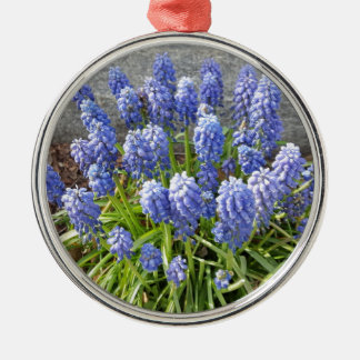 Grape Hyacinth Silver-Colored Round Ornament