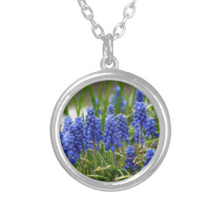 Grape Hyacinth Silver Plated Necklace