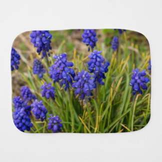 Grape Hyacinths Family Burp Cloth