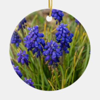 Grape Hyacinths Family Ceramic Ornament