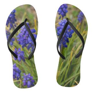 Grape Hyacinths Family Flip Flops
