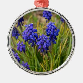 Grape Hyacinths Family Metal Ornament