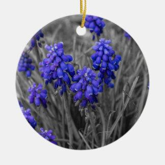 Grape Hyacinths Family Select Ceramic Ornament