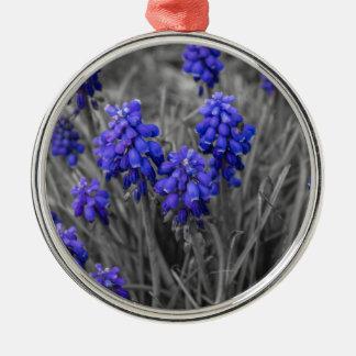 Grape Hyacinths Family Select Metal Ornament