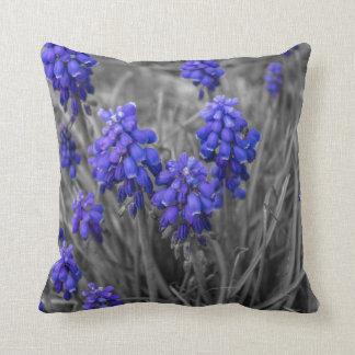 Grape Hyacinths Family Select Throw Pillow