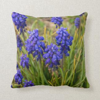 Grape Hyacinths Family Throw Pillow