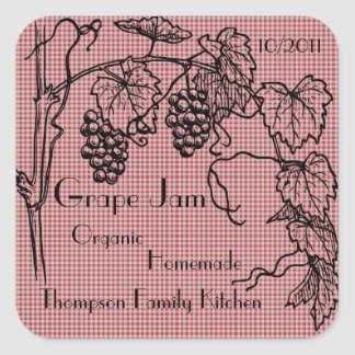 Grape Jam Jar Label (Customize)
