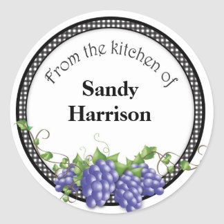 Grape Jelly Jar Stickers