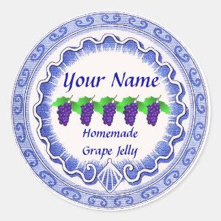 Grape Jelly  Personalize Classic Round Sticker
