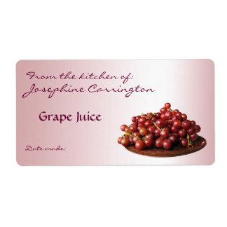 Grape Juice Canning Labels