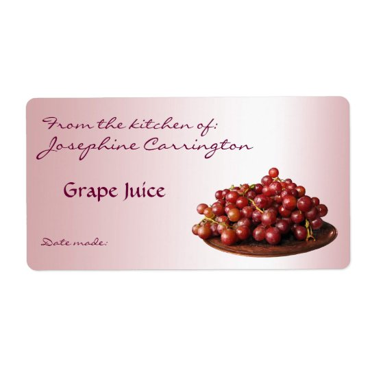 Grape Juice Canning Labels