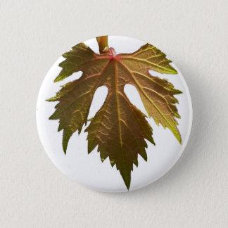 Grape leaf 2 inch round button