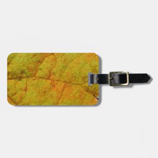 Grape Leaf Underside Bag Tag