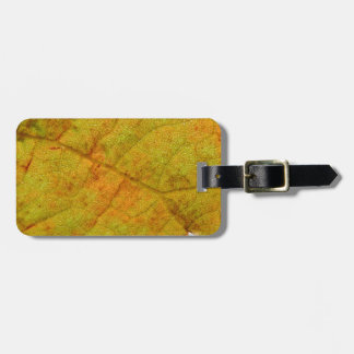 Grape Leaf Underside Luggage Tag