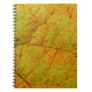 Grape Leaf Underside Notebook