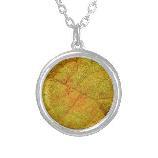 Grape Leaf Underside Silver Plated Necklace