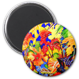 grape leaves 2 inch round magnet