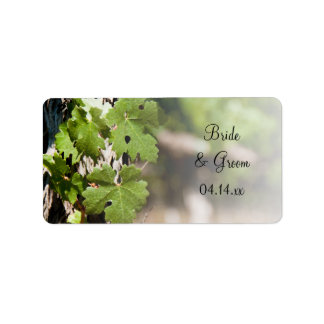 Grape Leaves Vineyard Wedding Favor Tags