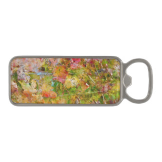 Grape Leaves with Vintage Film Style Magnetic Bottle Opener