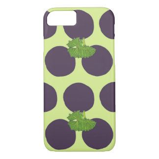 Grape Polka Dots iPhone 7 Case